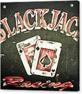 Black Jack Racing Acrylic Print by Phil 'motography' Clark