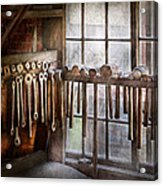 Black Smith - Draw Plates And Hammers  Acrylic Print by Mike Savad