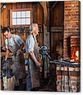 Blacksmith And Apprentice 2 Acrylic Print by Steve Harrington