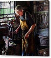 Blacksmith - Starting With A Bang  Acrylic Print by Mike Savad