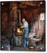 Blacksmith - The Importance Of The Blacksmith Acrylic Print by Mike Savad