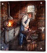 Blacksmith - The Smith Acrylic Print by Mike Savad