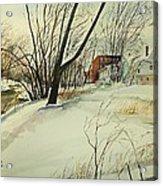 Blackstone River Snow  Acrylic Print by Scott Nelson