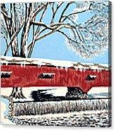Blankets Of Winter Acrylic Print by David Linton