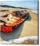 Blood And Guts I - Outer Banks Acrylic Print by Dan Carmichael
