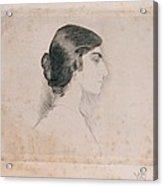 Blood Florence, Self-portrait, 1898 Acrylic Print by Everett