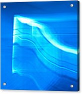 Blue Abstract 3 Acrylic Print by Mark Weaver