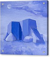 Blue Adobe Acrylic Print by Jerry McElroy