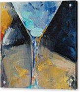 Blue Art Martini Acrylic Print by Michael Creese