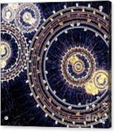 Blue Clockwork Acrylic Print by Martin Capek
