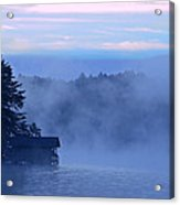 Blue Dawn Mist Acrylic Print by Susan Leggett