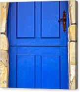 Blue Door Acrylic Print by Frank Tschakert