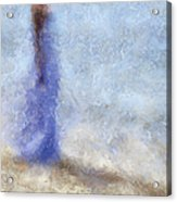 Blue Dream. Impressionism Acrylic Print by Jenny Rainbow
