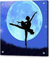 Blue Moon Ballerina Acrylic Print by Alixandra Mullins