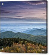 Blue Ridge Mountains Dreams Acrylic Print by Andrew Soundarajan