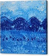 Blue Ridge Original Painting Acrylic Print by Sol Luckman