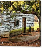 Blue Ridge Parkway - Mabry Mill Building In The Rain Acrylic Print by Dan Carmichael