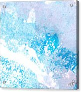 Blue Splash Acrylic Print by Ann Powell