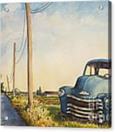 Blue Truck North Fork Acrylic Print by Susan Herbst