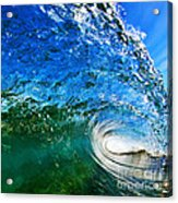 Blue Tube Acrylic Print by Paul Topp