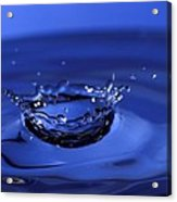 Blue Water Splash Acrylic Print by Anthony Sacco