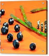 Blueberry Protesting Acrylic Print by Paul Ge