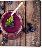 Blueberry Smoothie Acrylic Print by Jane Rix