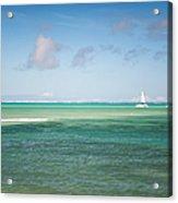 Blues. Mauritius Acrylic Print by Jenny Rainbow