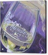 Bluestone Vineyard Wineglass Acrylic Print by Donna Tuten