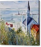 Bluff View St. Annes Mackinac Island Acrylic Print by Sandra Strohschein