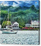 Boat - A Good Day To Sail Acrylic Print by Mike Savad