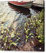 Boat At Dock  Acrylic Print by Elena Elisseeva