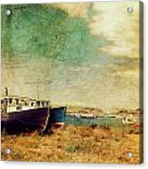 Boat Dreams On A Hill Acrylic Print by Tracy Munson