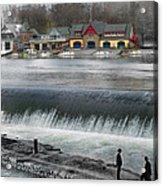 Boat House Row Acrylic Print by Eric Nagy