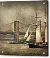 Boat - Sailing - Govenors Island Ny - Clipper City Acrylic Print by Mike Savad