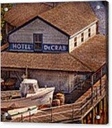 Boat - Tuckerton Seaport - Hotel Decrab  Acrylic Print by Mike Savad