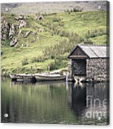 Boathouse Acrylic Print by Jane Rix