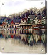Boathouse Row Philadelphia Acrylic Print by Tom Gari Gallery-Three-Photography
