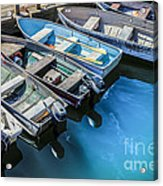 Boats At Bar Harbor Maine Acrylic Print by Diane Diederich