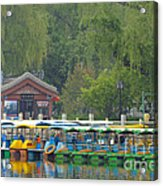 Boats In A Park, Beijing Acrylic Print by John Shaw