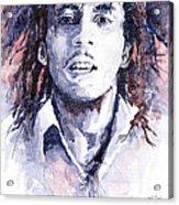 Bob Marley 3 Acrylic Print by Yuriy  Shevchuk