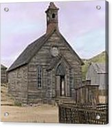 Bodie Church Acrylic Print by Mel Felix