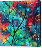 Bold Rich Colorful Landscape Painting Original Art Colored Inspiration By Madart Acrylic Print by Megan Duncanson