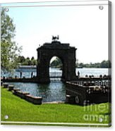 Boldt Castle Entry Arch Acrylic Print by Rose Santuci-Sofranko