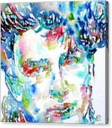 Bono Watercolor Portrait.1 Acrylic Print by Fabrizio Cassetta