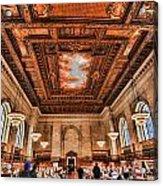 Book Heaven Acrylic Print by Tony Ambrosio