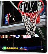 Boston Celtics' Basket Acrylic Print by Mike Martin