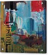 Boston City Collage 3 Acrylic Print by Corporate Art Task Force