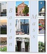 Boston Collage Acrylic Print by Barbara McDevitt