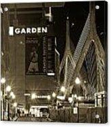 Boston Garder And Side Street Acrylic Print by John McGraw